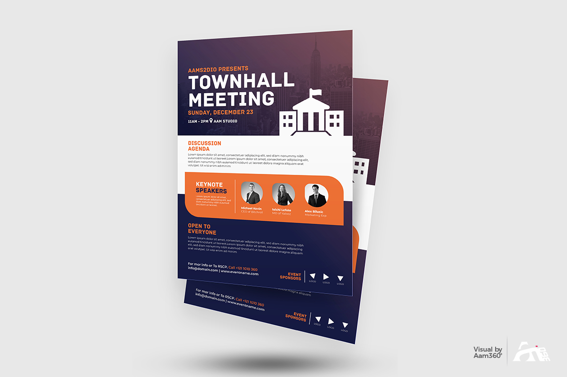 Townhall Event Flyer Template example image 2