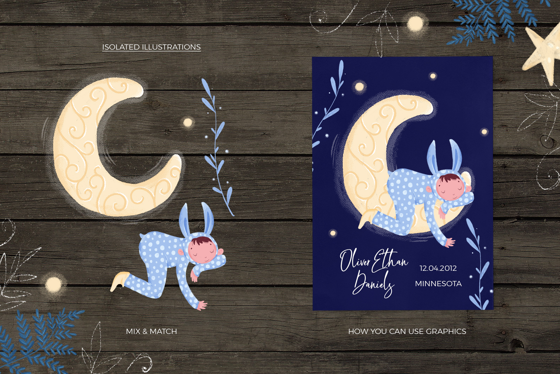 Good night - kids design creator example image 6