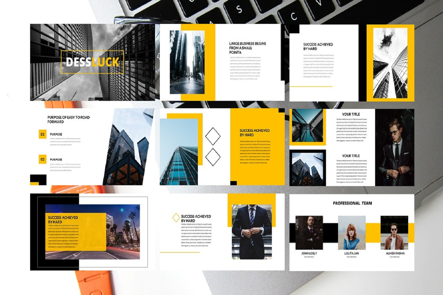 business template google slides example image 2