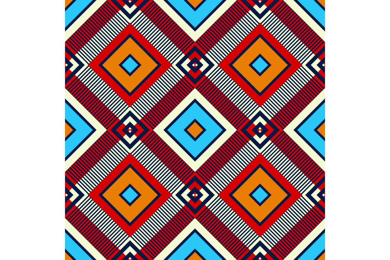 Tartan texture. Set of 10 seamless patterns. example image 5