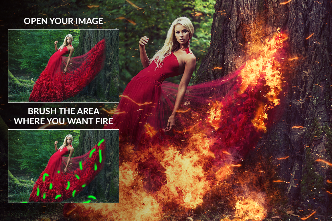 Fire Photoshop Action example image 4
