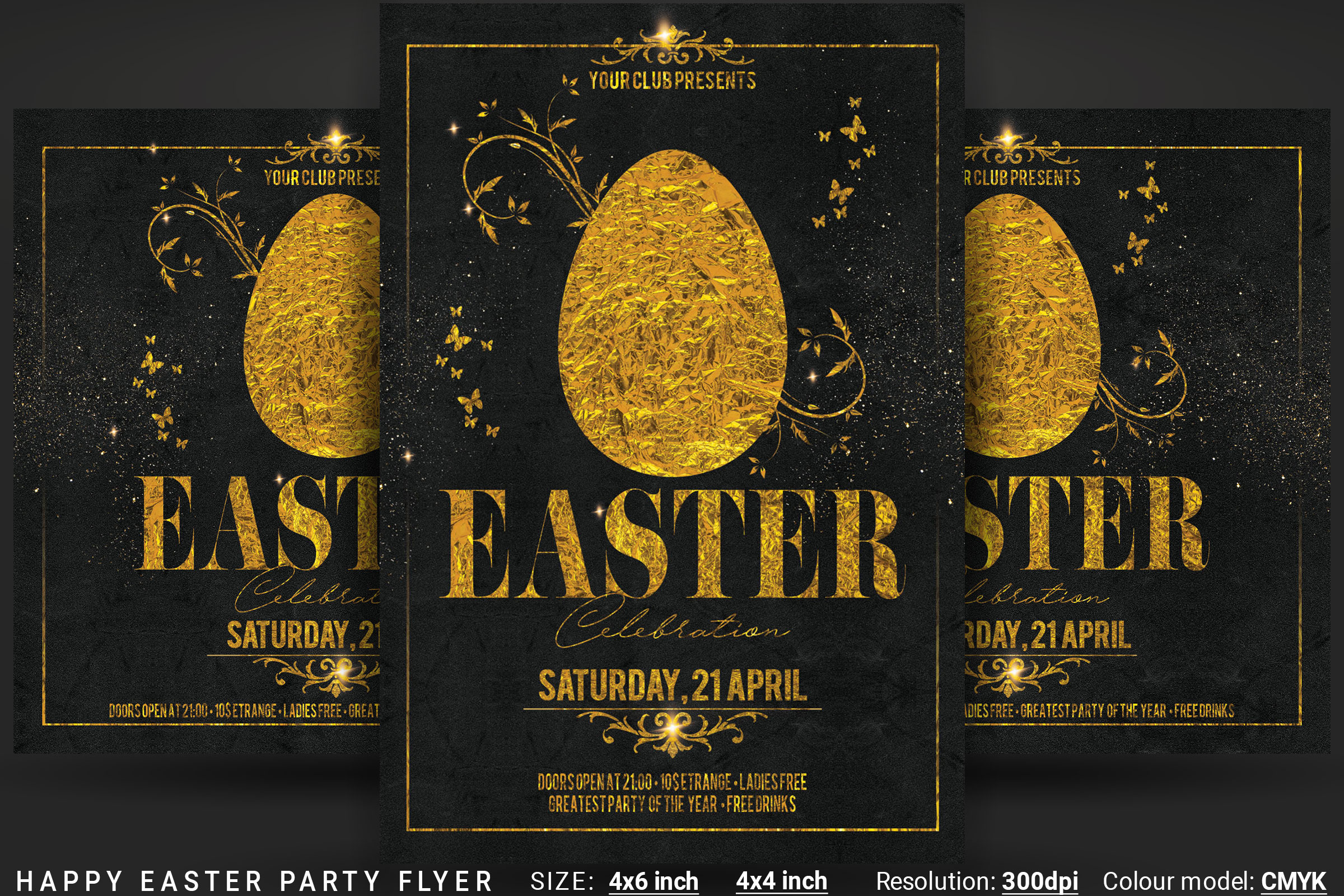 Happy Easter Party Flyer example image 1