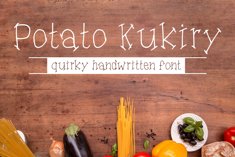 Potato Kukiry - Handwritten Quirky Fun Serif Font example image 1