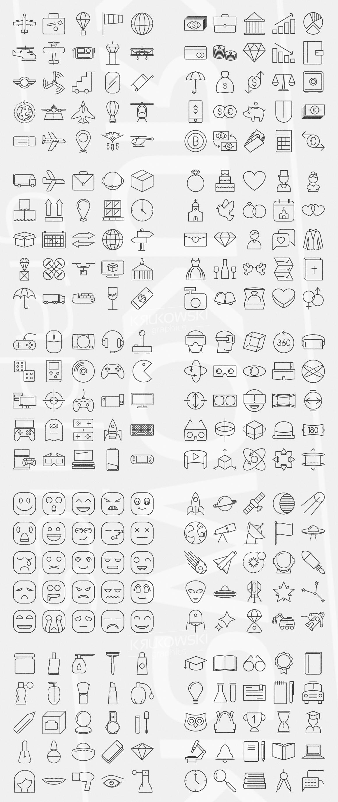 500 Modern Icons Bundle example image 2