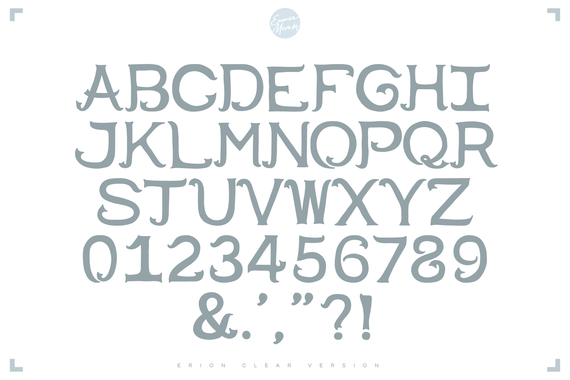 4in1 ERION FONT - Christmas Winter Version example image 3