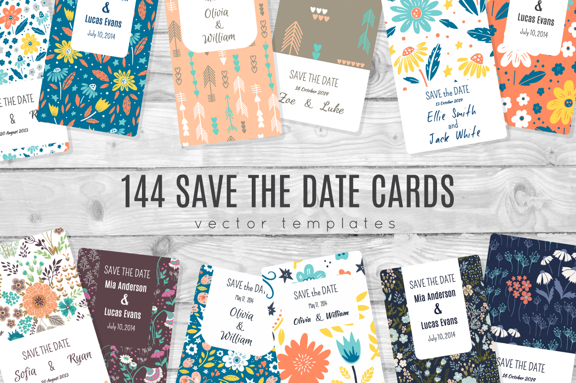 144 Save tha Date templates example image 1
