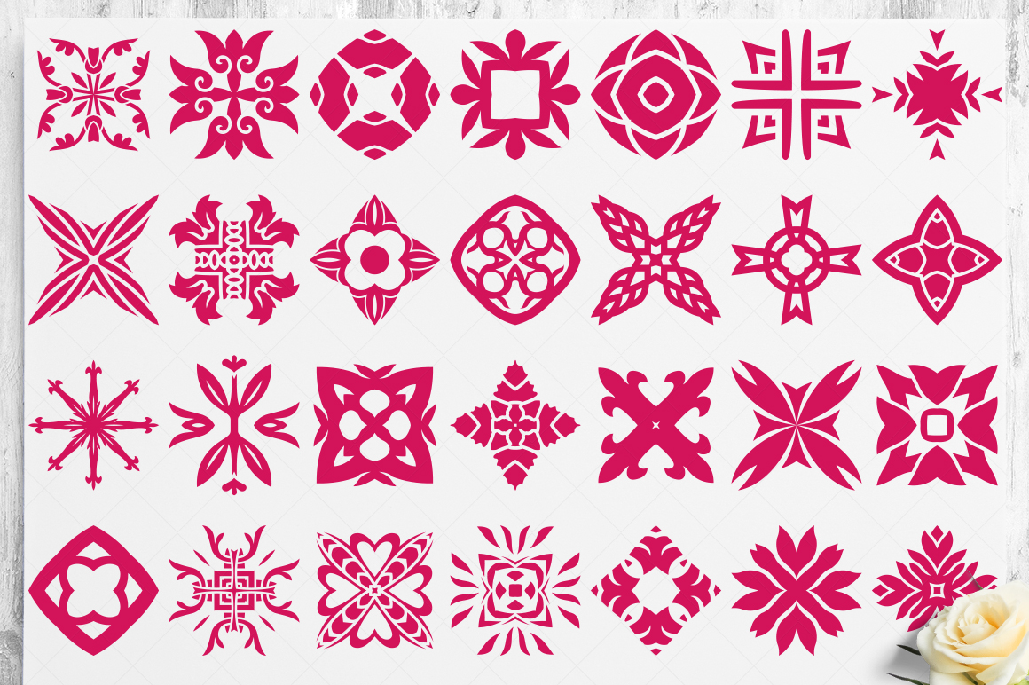 100 Heart Vector Ornaments and Seamless Patterns example image 22