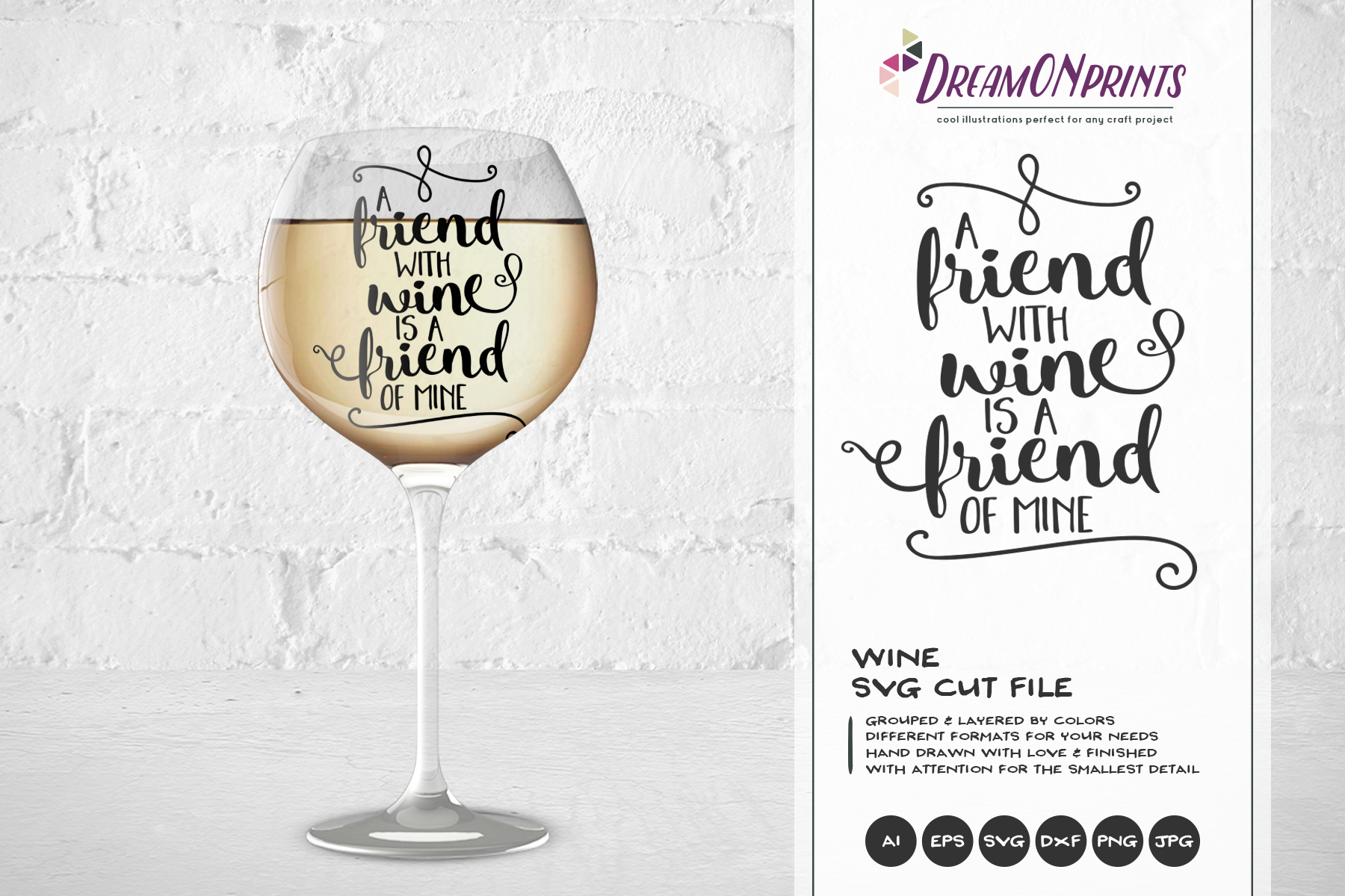 Wine and Cheese SVG BUNDLE - Bundle SVG Cut Files example image 4