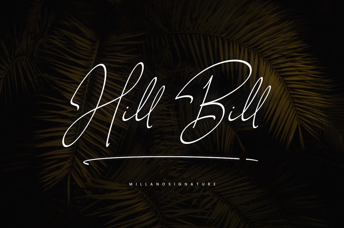 Millano // Signature Font example image 2
