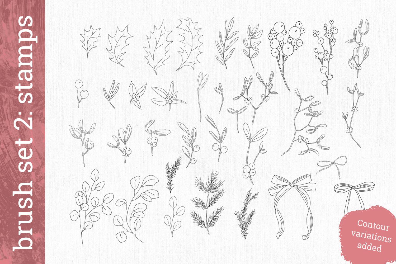 Mistletoe brush box for Procreate example image 5