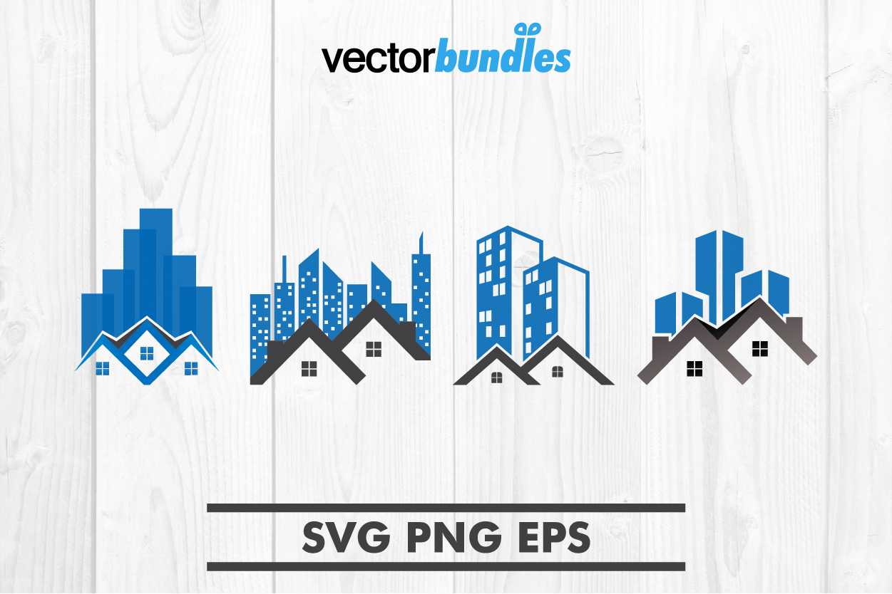 House skyscraper city clip art svg example image 1