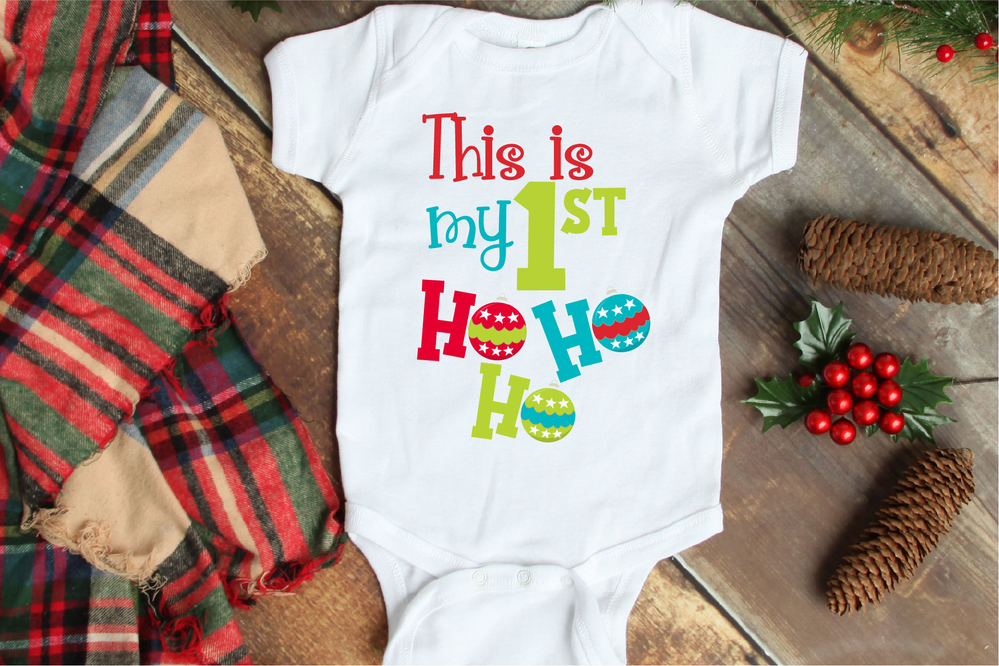Christmas SVG, This Is My First Ho Ho Ho Sublimation example image 1