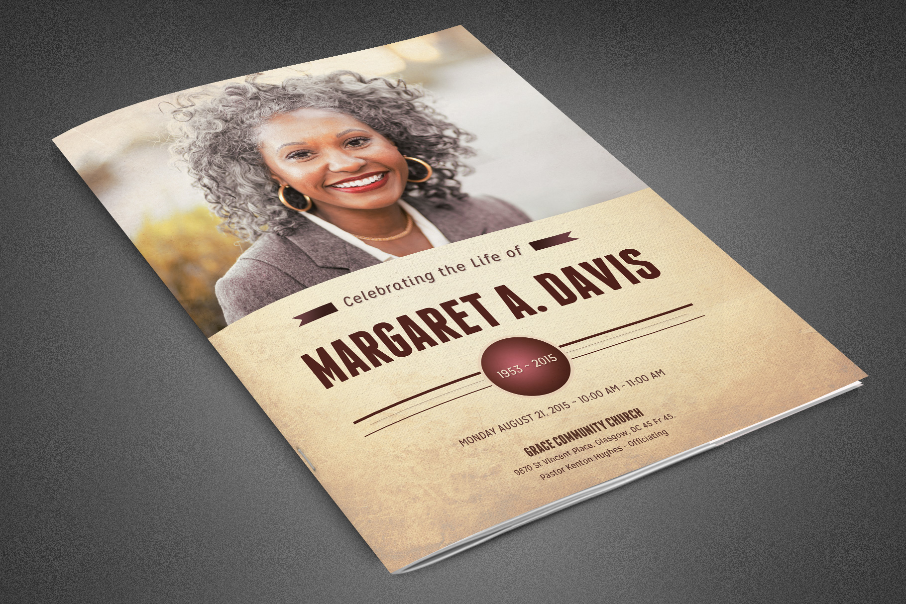 Funeral and Memorial Program example image 1
