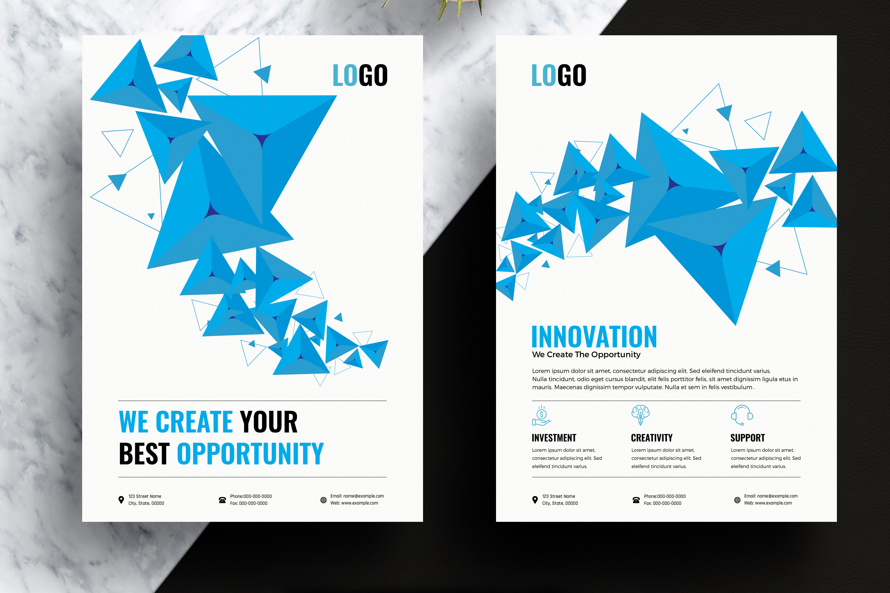 Abstract Business Flyer Template example image 1