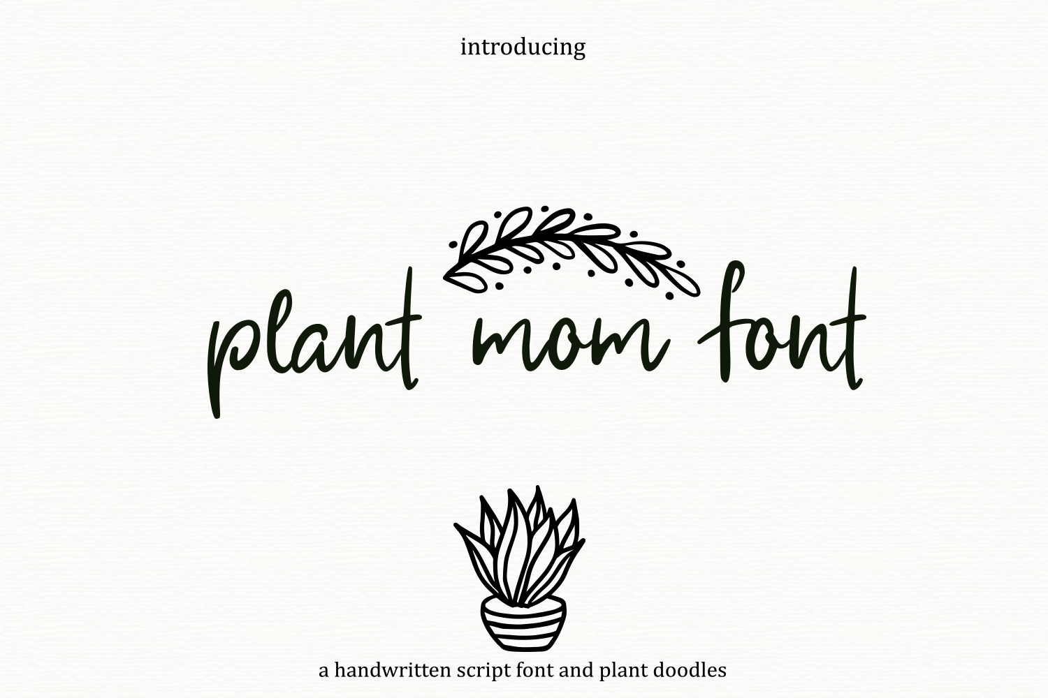 Plant Mom Font & Doodles example image 1