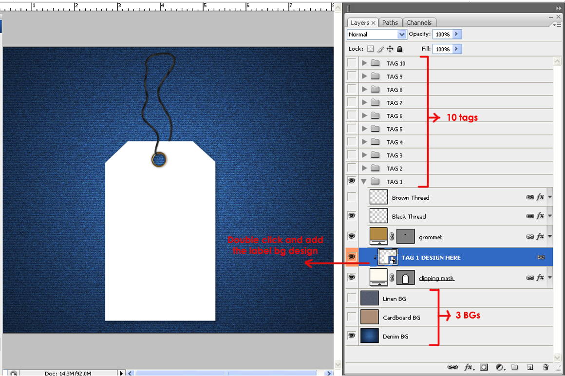 Tags / Labels Mockup Bundle example image 5