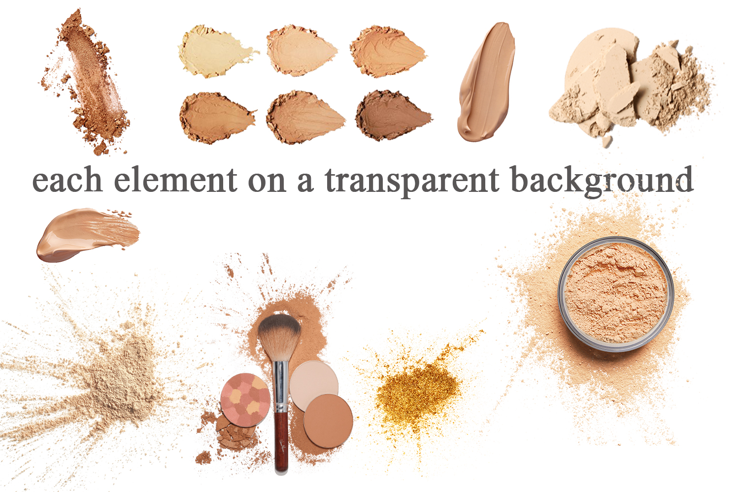 Beauty mockup elements and backgrounds example image 3