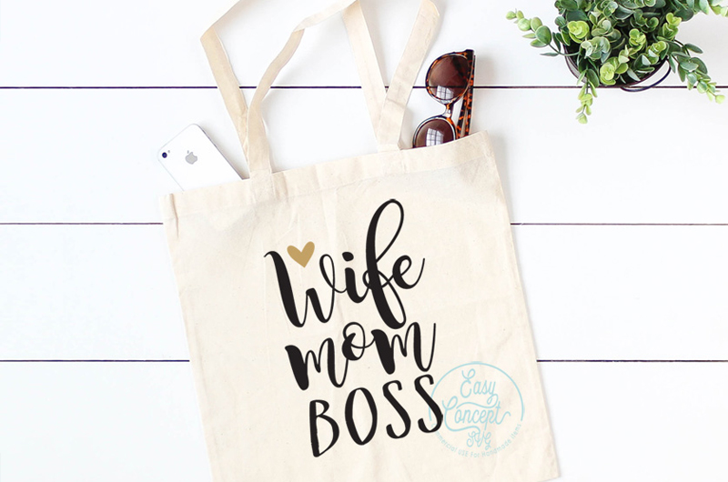 Wife mom boss SVG, Wife Mom Boss digital clipart files, example image 2