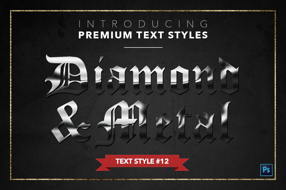 Diamond & Metal #1 - 15 Text Styles example image 13