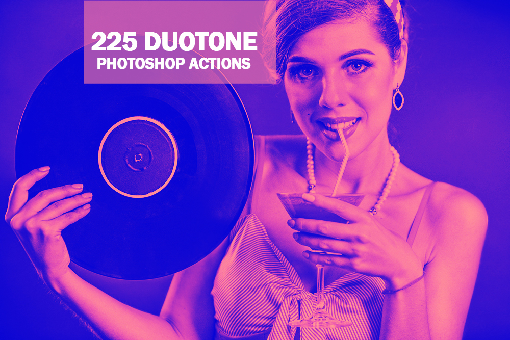 225 Duotone Photoshop Actions Collection (Action for photoshop CS5,CS6,CC) example image 1