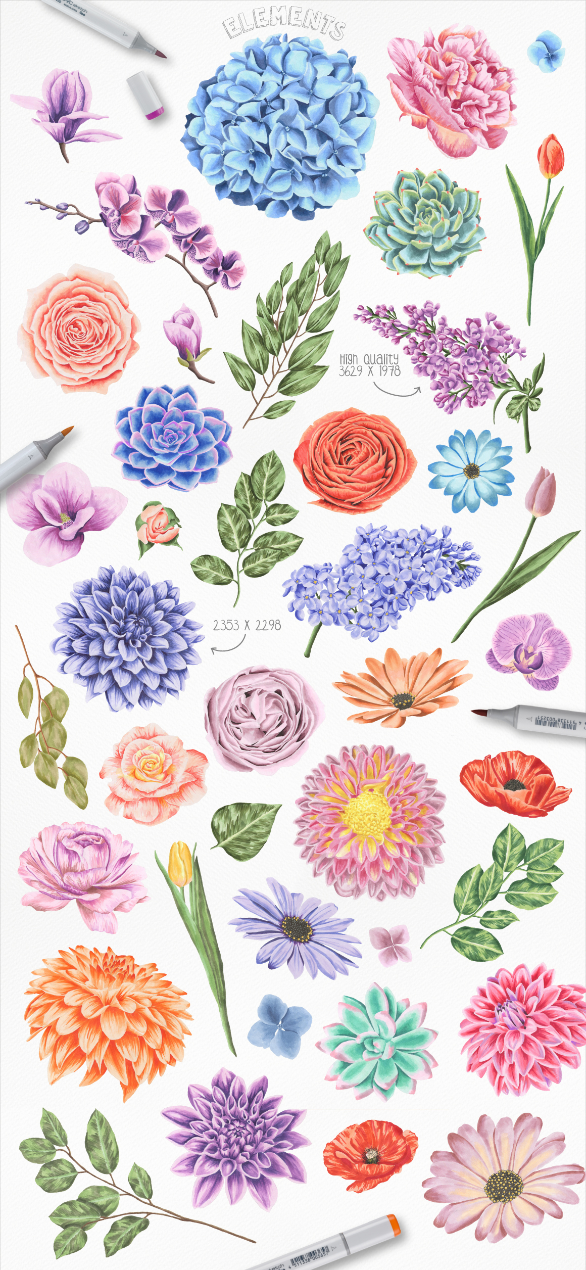 Flower Power Marker Collection example image 2