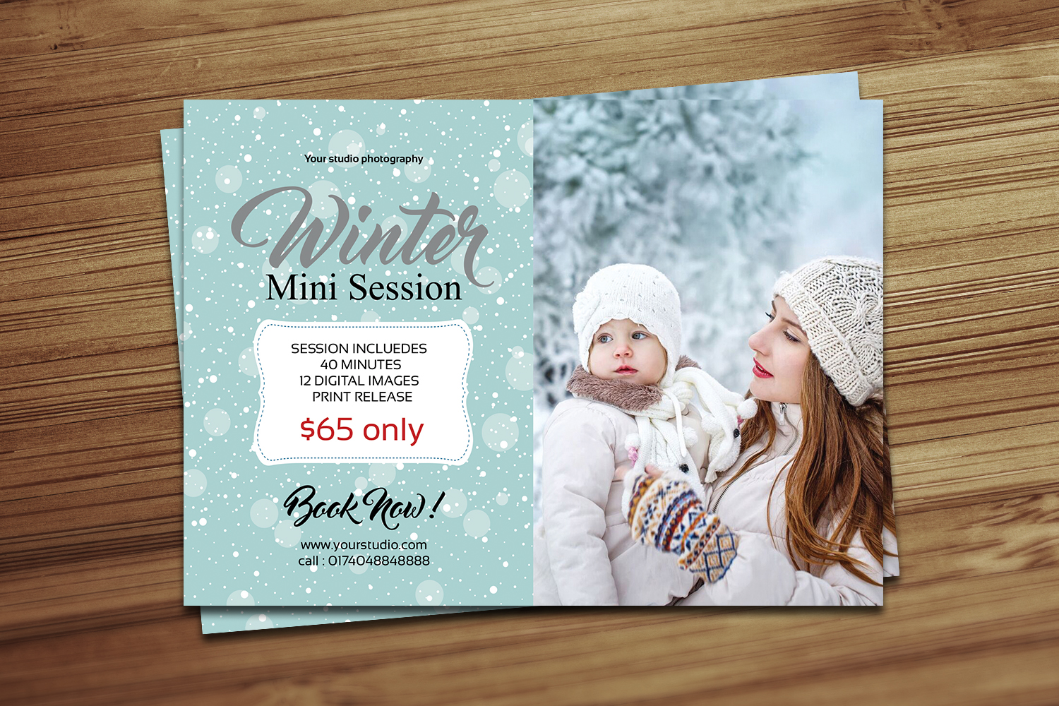 Winter Mini Session Template example image 2