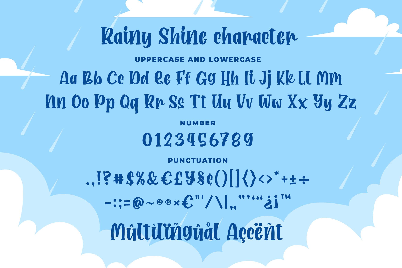 Rainy Shine - Unique Bouncy Font example image 6