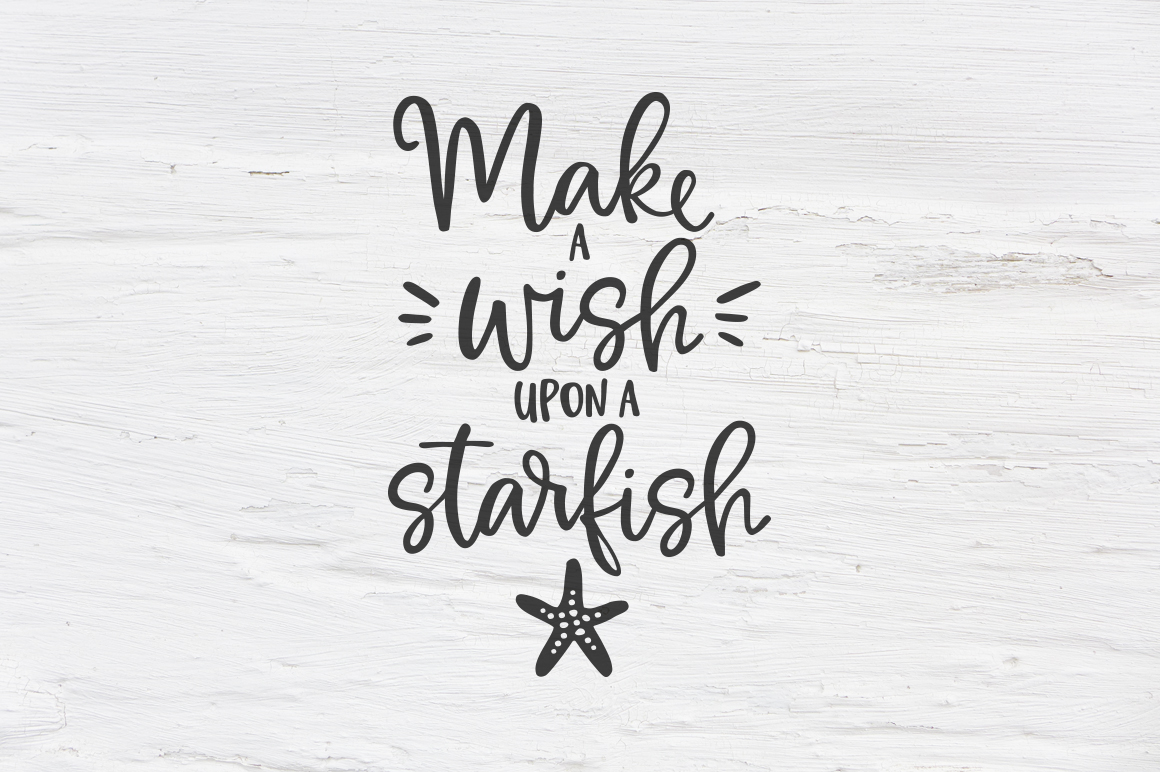 Make a wish upon a Starfish SVG, EPS, PNG, DXF example image 1