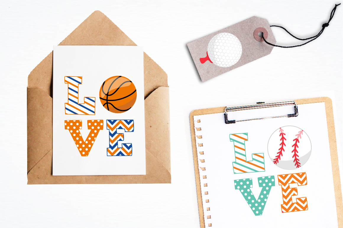 Sports love graphics and illustrations example image 4