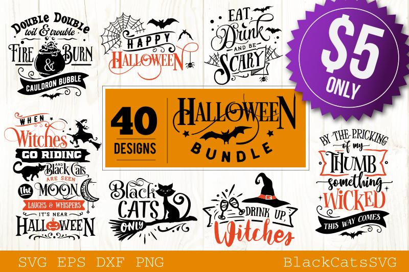 Halloween SVG bundle 40 designs vol 2 example image 1