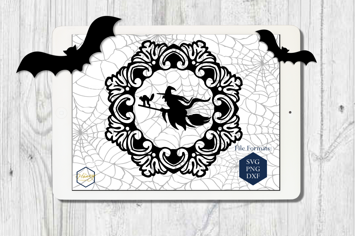 Halloween Set SVG PNG DXF Spider Bats Skull Potion Witch example image 4