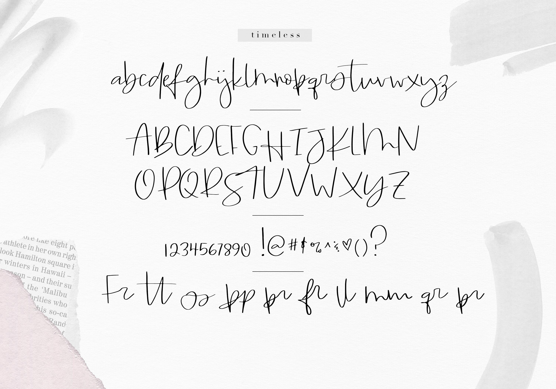 Timeless - Handwritten Script Font example image 11