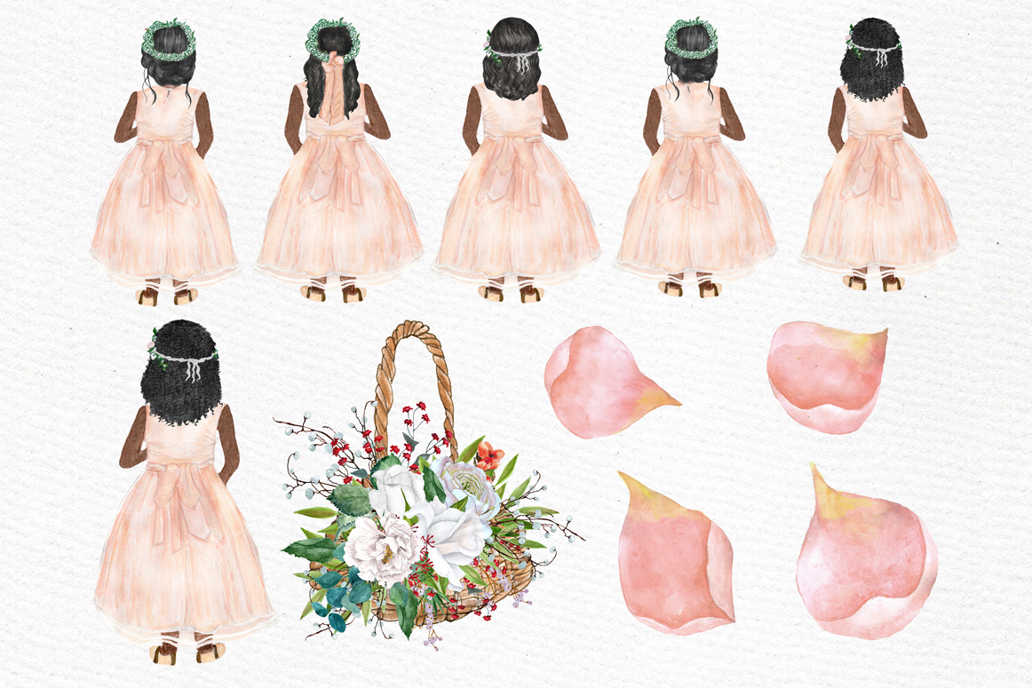 Flower girl clipart Wedding clipart example image 4