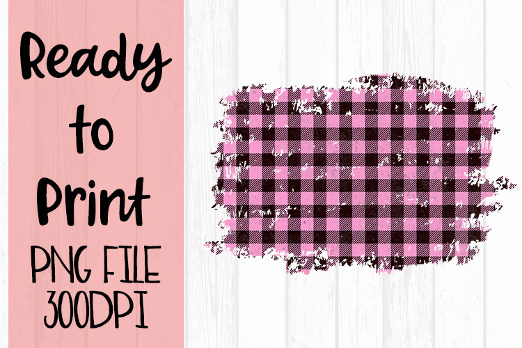 Pink Buffalo Plaid Frame Ready to Print example image 1