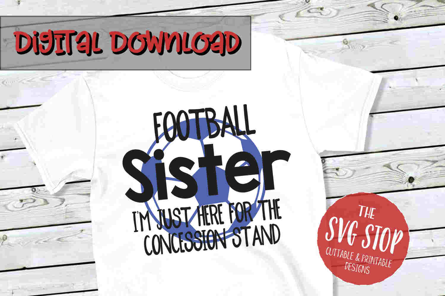 Football-Soccer Sister -SVG, PNG, DXF example image 1