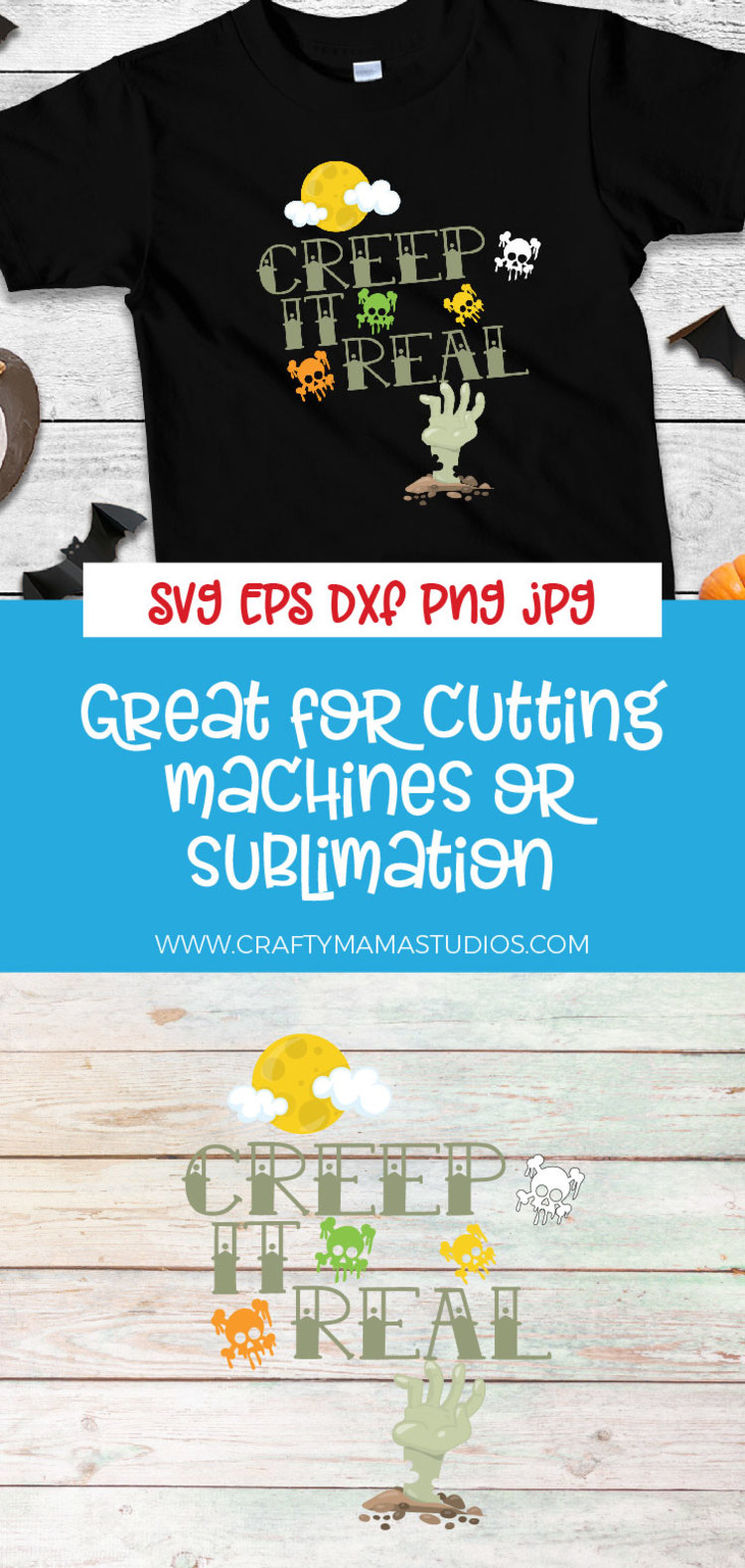 Creep It Real SVG Sublimation, Keeping It Real, Halloween example image 3