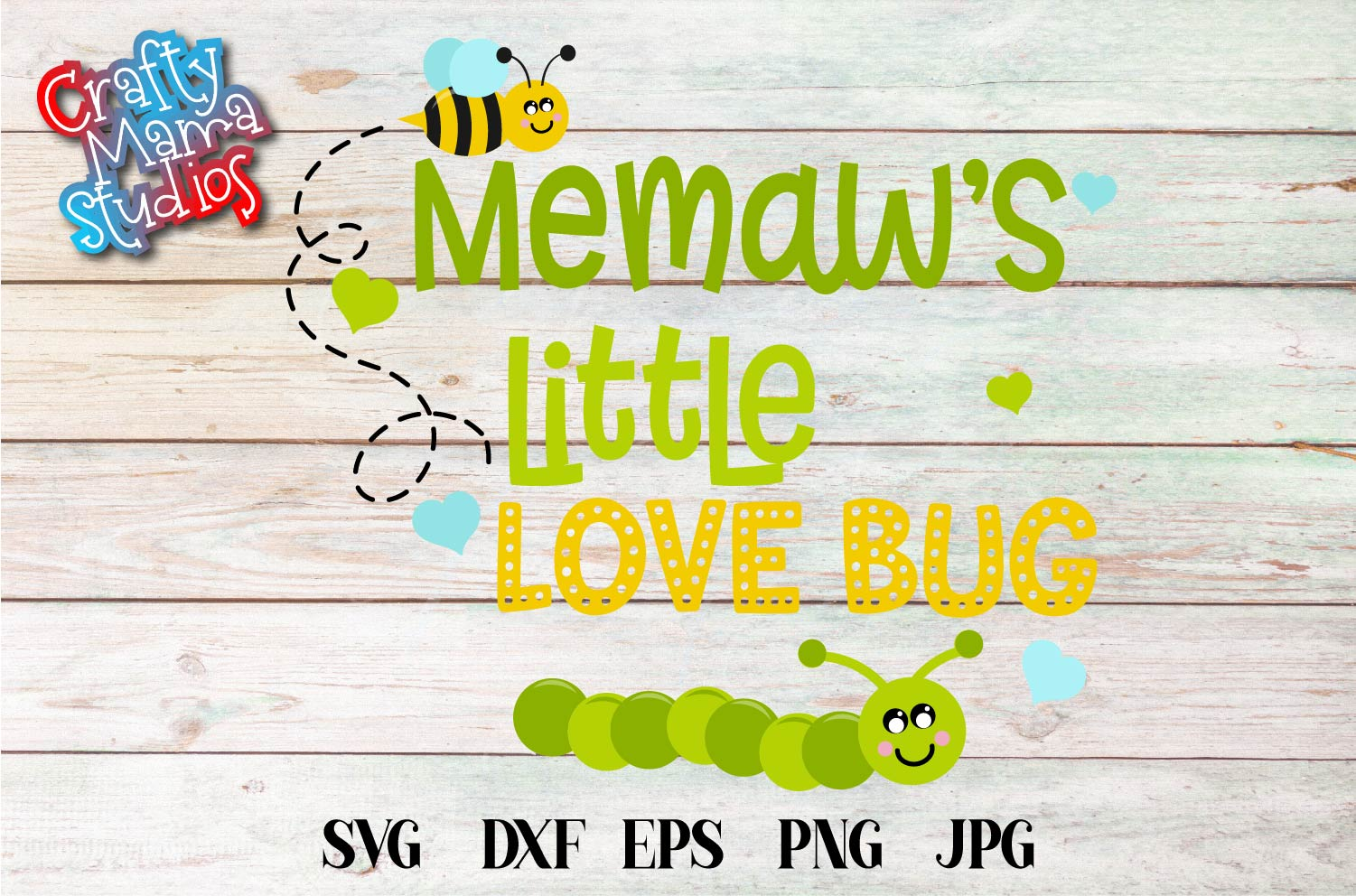 Valentine's Day SVG Little Love Bug, Memaw's Love Bug SVG example image 2