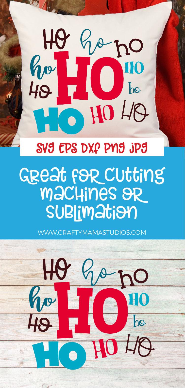 Christmas SVG, Ho Ho Ho Sublimation, Merry Christmas example image 3
