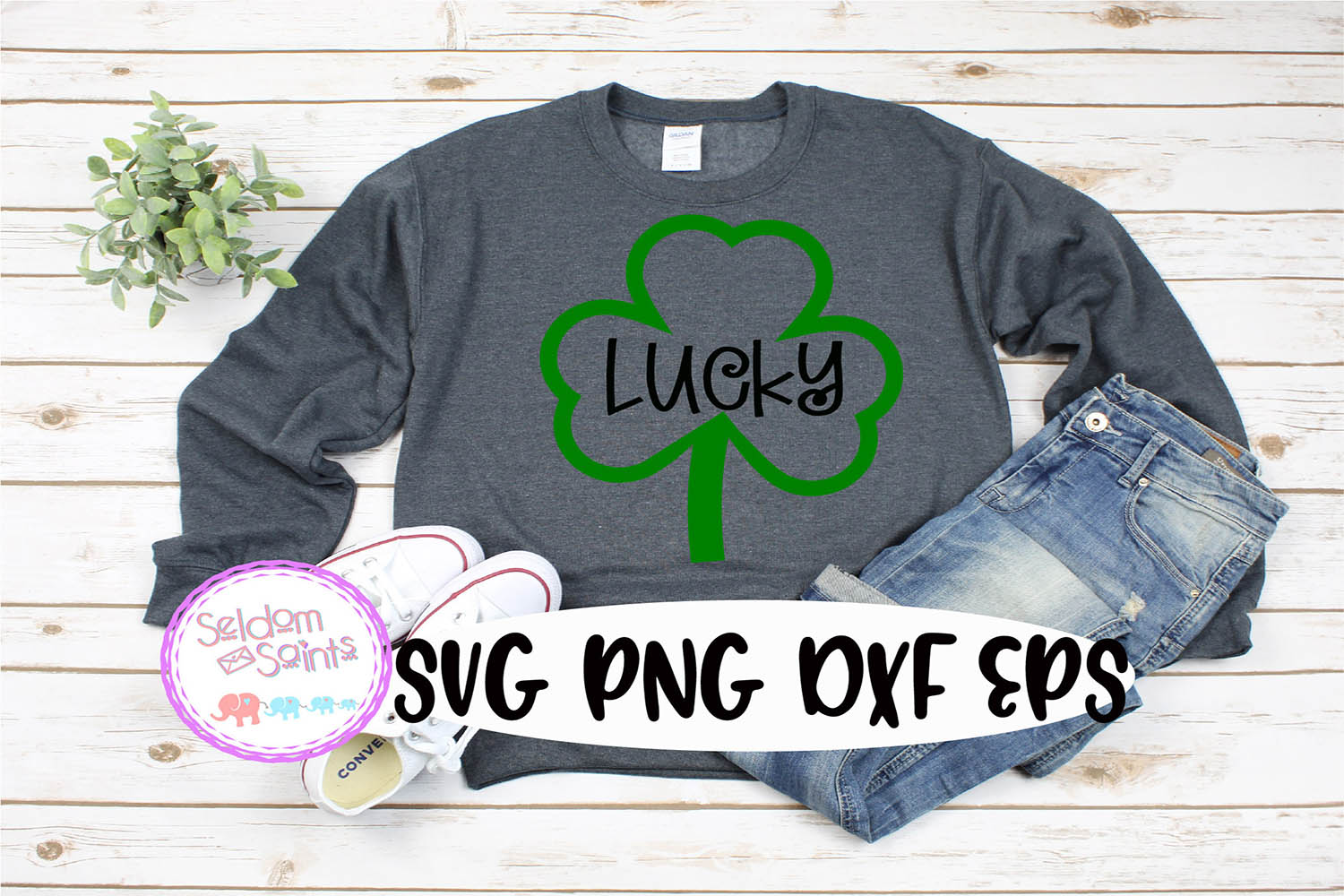 Lucky SVG PNG EPS DXF example image 1