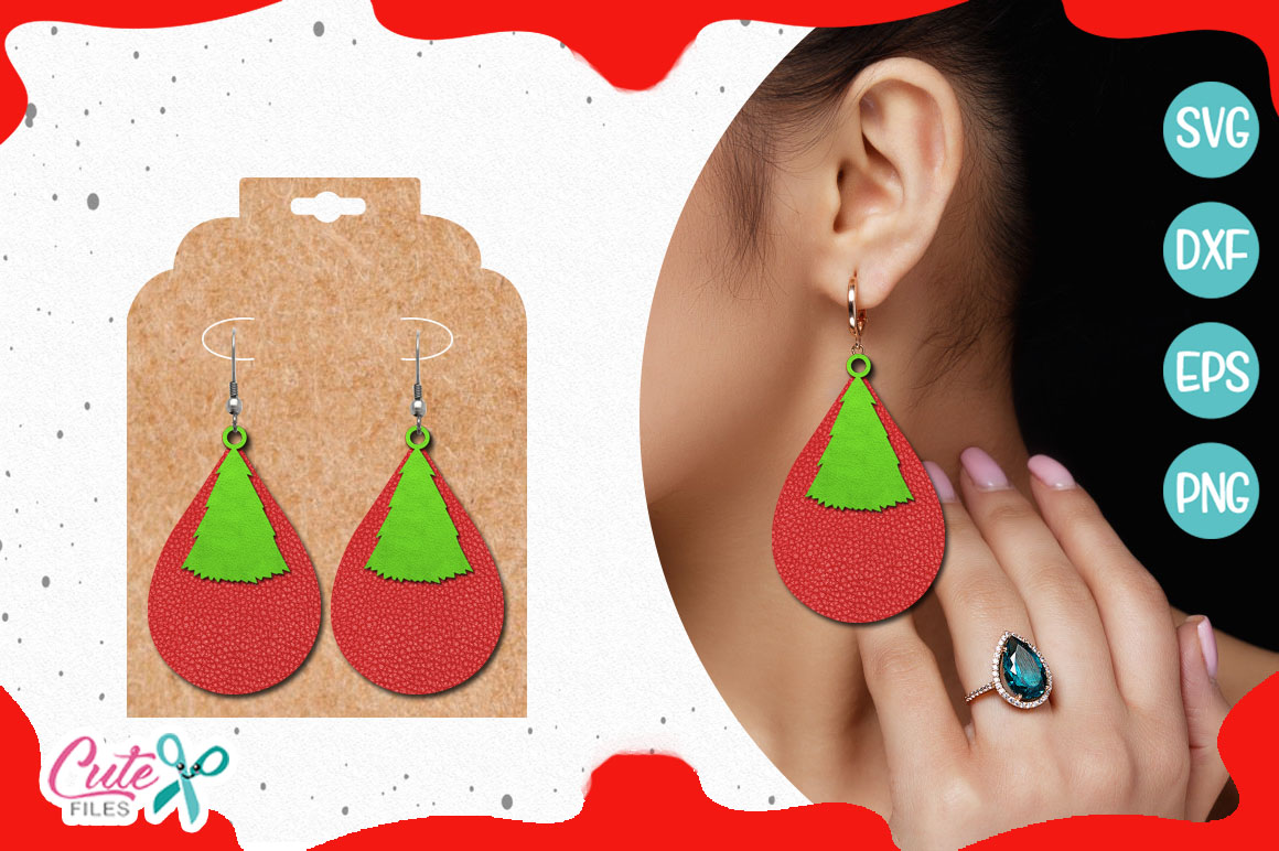 Christmas tree templante SVG cut file example image 1