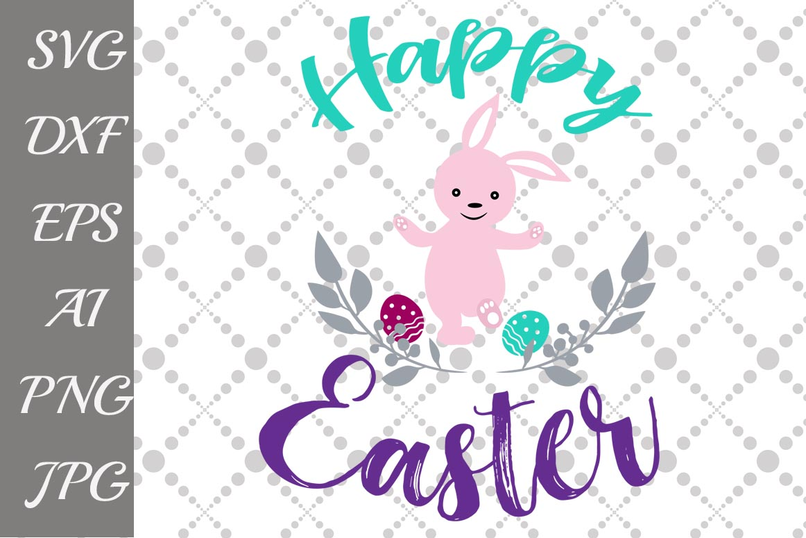 Happy Easter Svg example image 1
