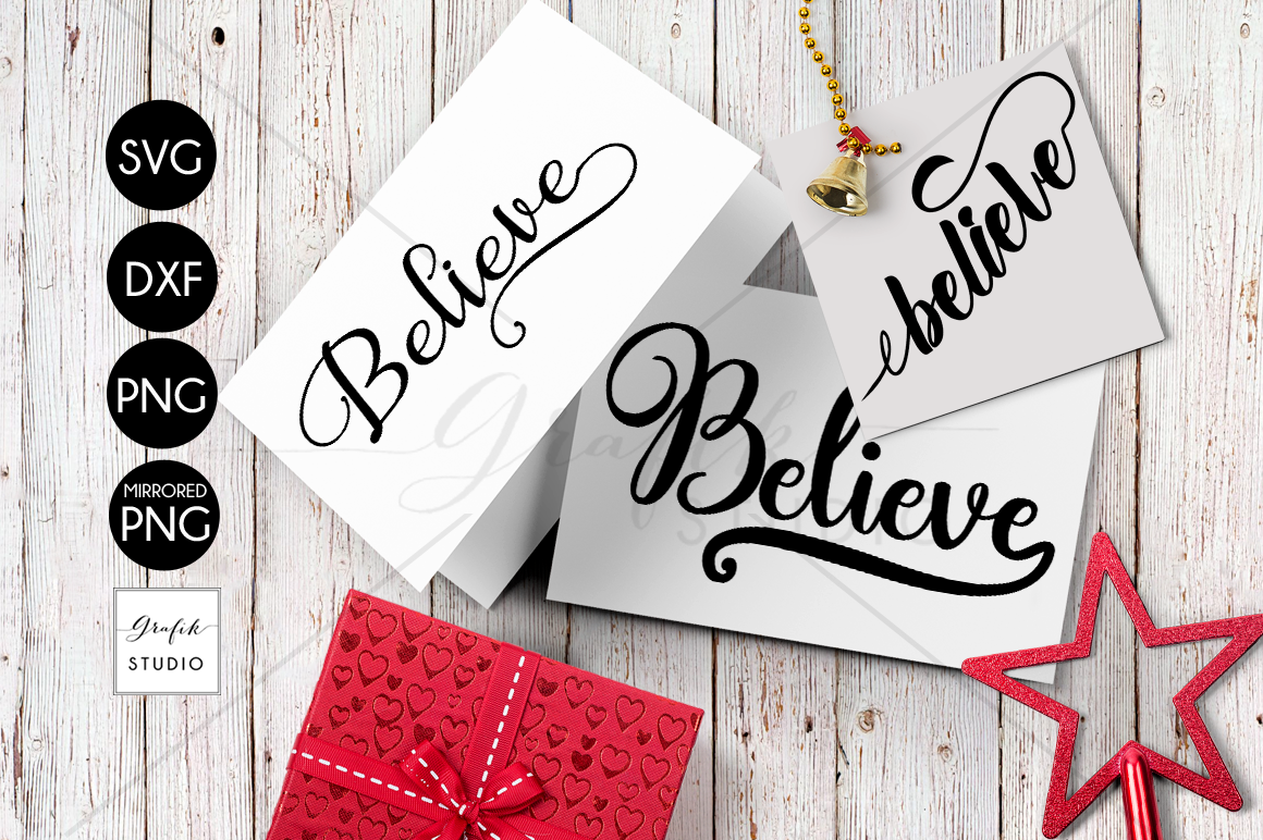 Download 3 Believe Christmas holiday SVG Files, SVG CUT files, CUT ...