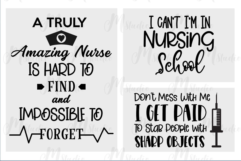 Nurse quotes svg bundle example image 3