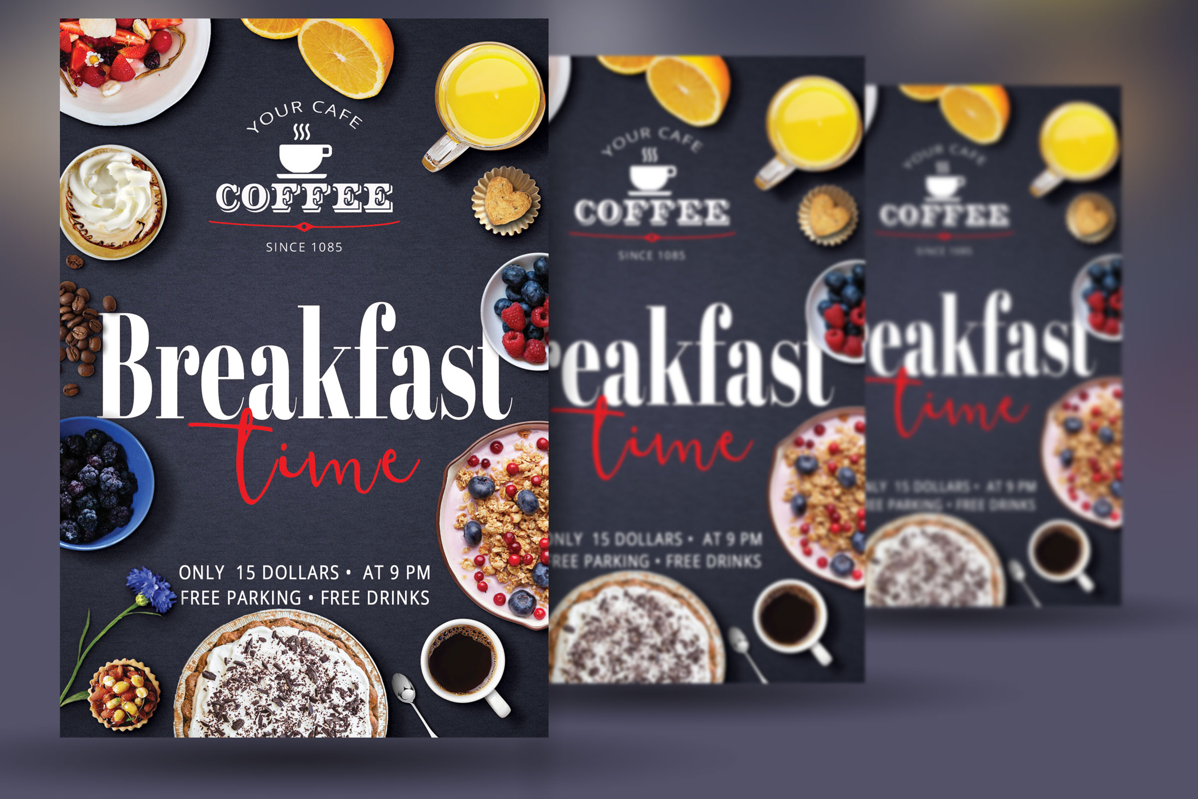 Breakfast Time Flyer example image 2