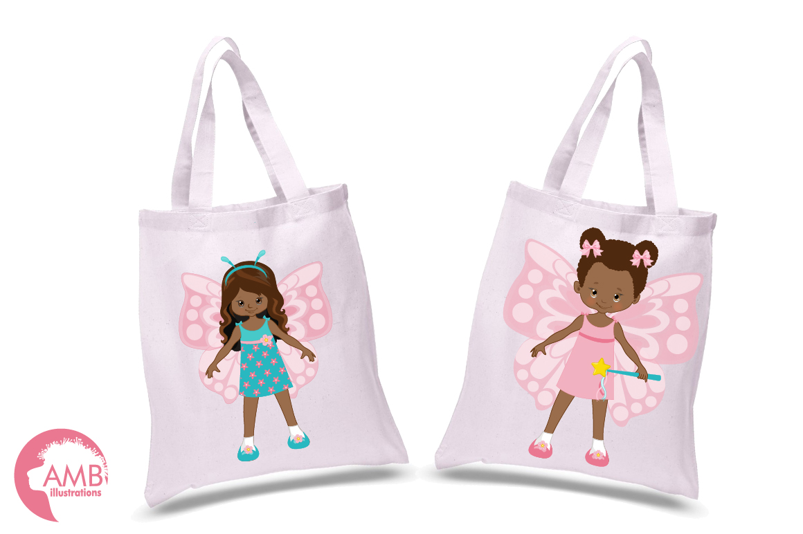 Fairy girls, butterfly girls clipart, graphics and illustrations AMB-1084 example image 2
