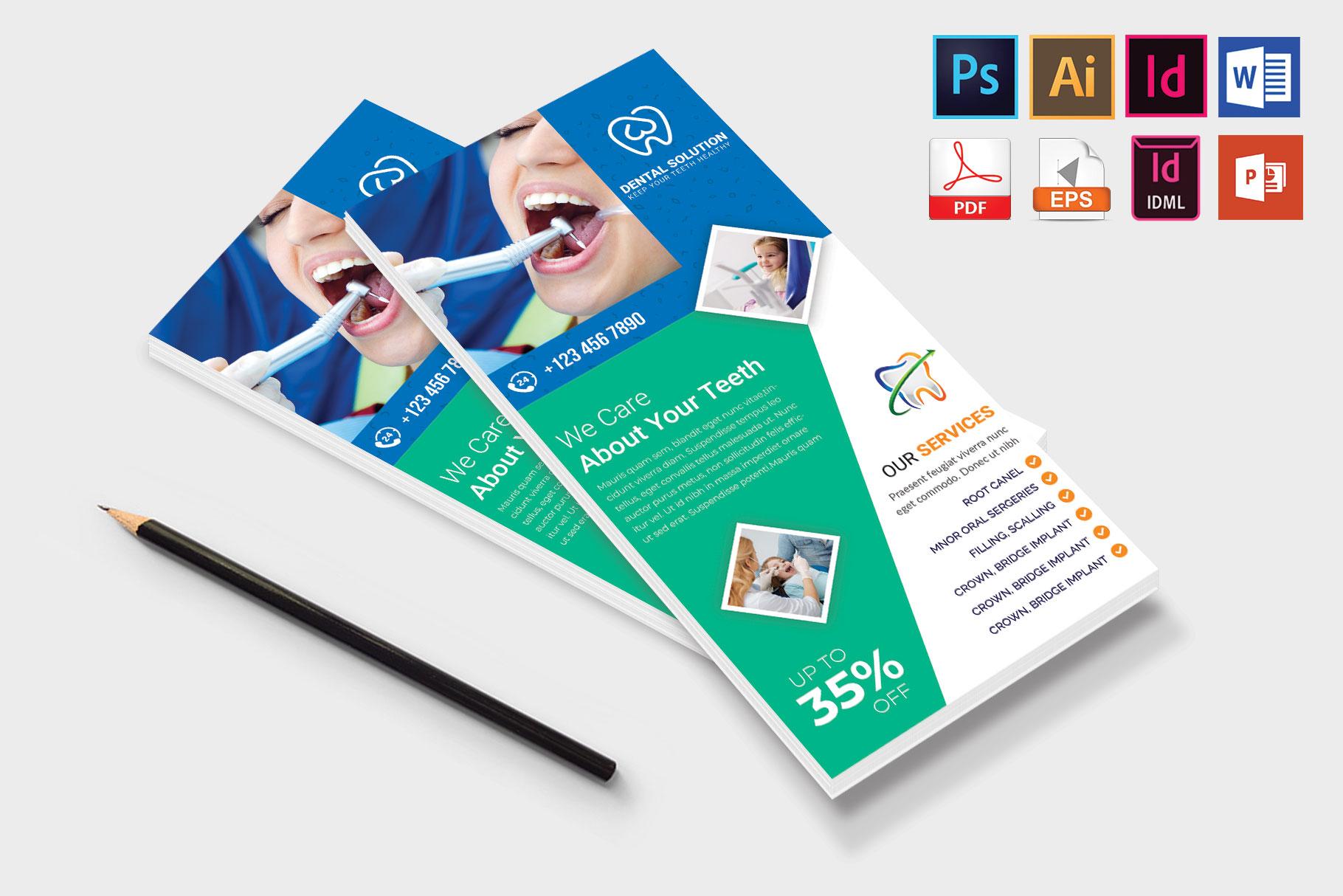 Rack Card | Dental DL Flyer Vol-03 example image 4