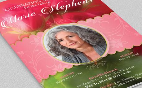 Decorative Funeral Program Template example image 5