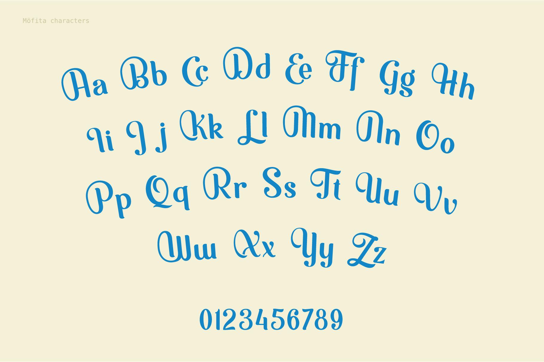 Möfita font example image 6