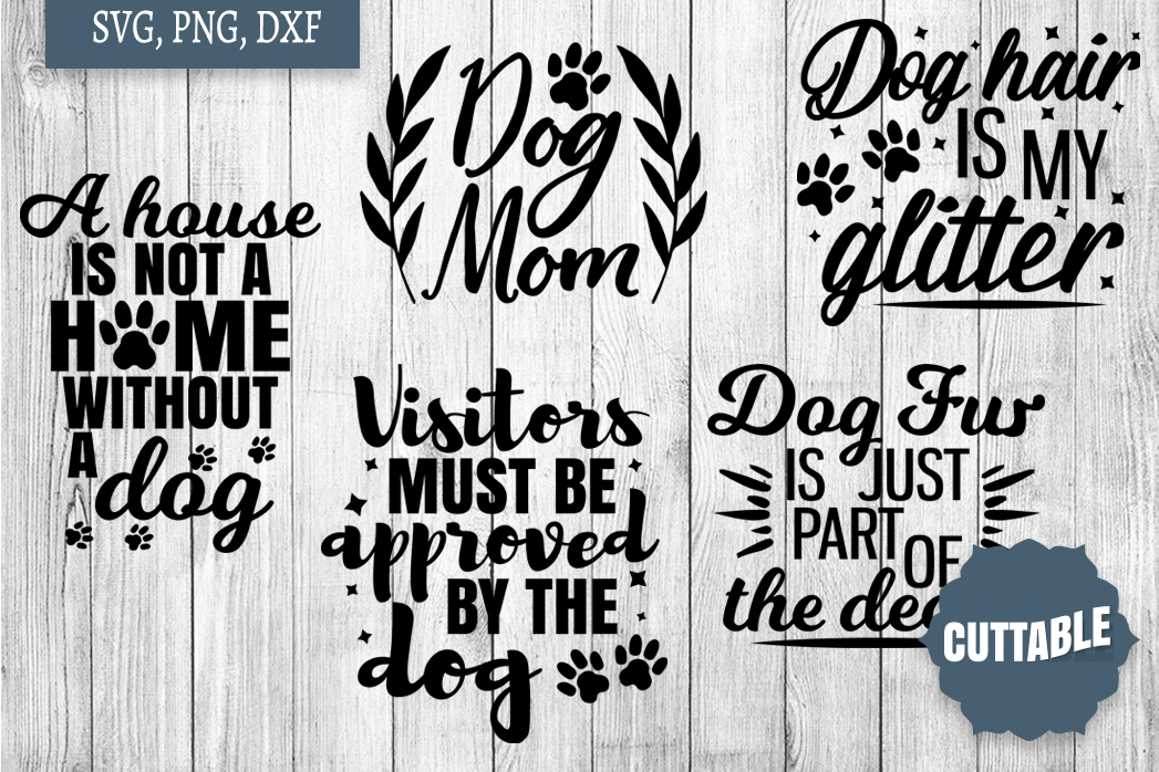 Dog lover cut file Bundle, Dog quote SVGs, 15 Dog quote SVGs example image 2