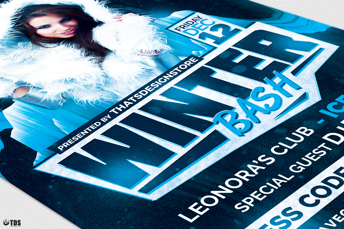 Winter Bash Flyer Template V3 example image 6